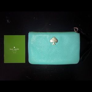 Kate Spade Turquoise Wristlet